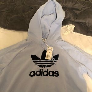 adidas cropped hoodie! never worn before